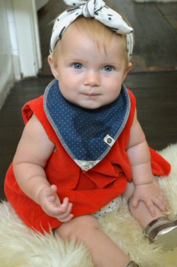 "Outfit 5: ""Spangled"" - 7 Sustainable Baby Fashion looks for the 4th of July.  Eco #ootd by My Darla Clementine"