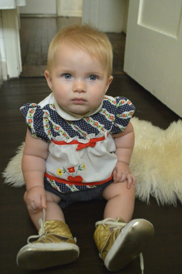 "Outfit 7: ""Twilight Gleam"" - 7 Sustainable Baby Fashion looks for the 4th of July.  Eco #ootd by My Darla Clementine"