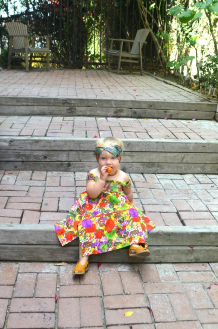 """Bohemian Sunshine."" Sustainable toddler Fashion OOTD feature by My Darla Clementine"