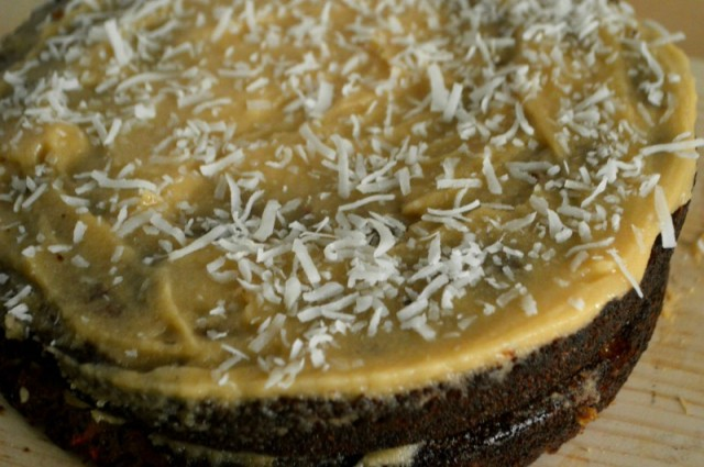 Coconut Carrot Cake. Grain free, gluten free, sugar free, diary/nut free options. by My Darla Clementine.
