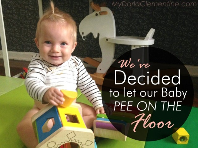 We've Deceided to Let Our Baby Pee On the Floor: Going diaper-free and practicing elimination communication with our 10 month old. By My Darla Clementine.