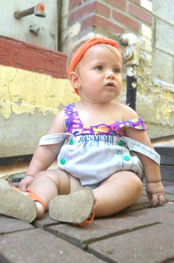 80's Neon Vintage Swimsuit Edition: Eco kid fashion ootd feature by My Darla Clementine.