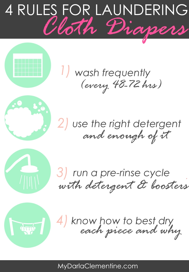 4 Rules For Laundering Cloth Diapers Free Printable