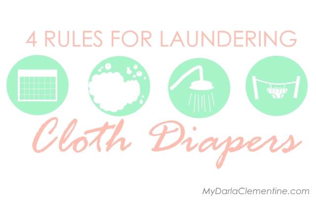 These 4 cloth diaper laundering rules can make or break your fluff experience!  How often you launder them, the right types and how much detergent is used, and the proper rinse and dry cycles will keep your diapers clean, absorbant, and functional!  Comes with free cloth diaper washing printable that is customizable!  Click through to read more and grab the pdf file!
