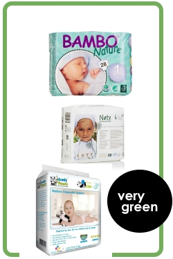 A Green Comparison of Disposable Diapers - rating 12 eco-friendly diapers based on their biodegradability, natural vs. synthetic materials, and sustainability. By My Darla Clementine.