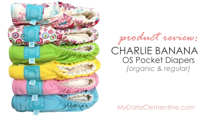 Charlie Banana OS Pocket Diapers Review, Organic and regular. Talks about packaging, design and fit, materials, laundering, and more. By My Darla Clementine