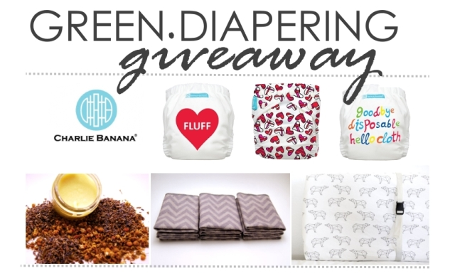 Charlie Banana & Green Diapering Giveaway. Includes 3 cloth diapers, organic bottom balm, reusable wipes, and an organic cotton contour changing pad cover. September 23-October 2 // 6 prizes, 1 winner // by My Darla Clementine