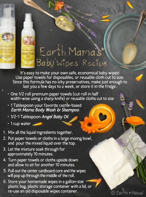 Easy DIY Baby Wipes with Earth Mama Angel Baby • My Darla Clementine