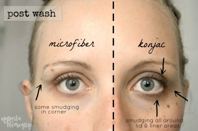 Water Only Facial Cleansing: Comparing microfiber cloths versus konjac sponges. Discusses water-only method and rates how well norwex and puresol remove makeup, exfoliate, feel, the cost, ease of use, and more! by My Darla Clementine